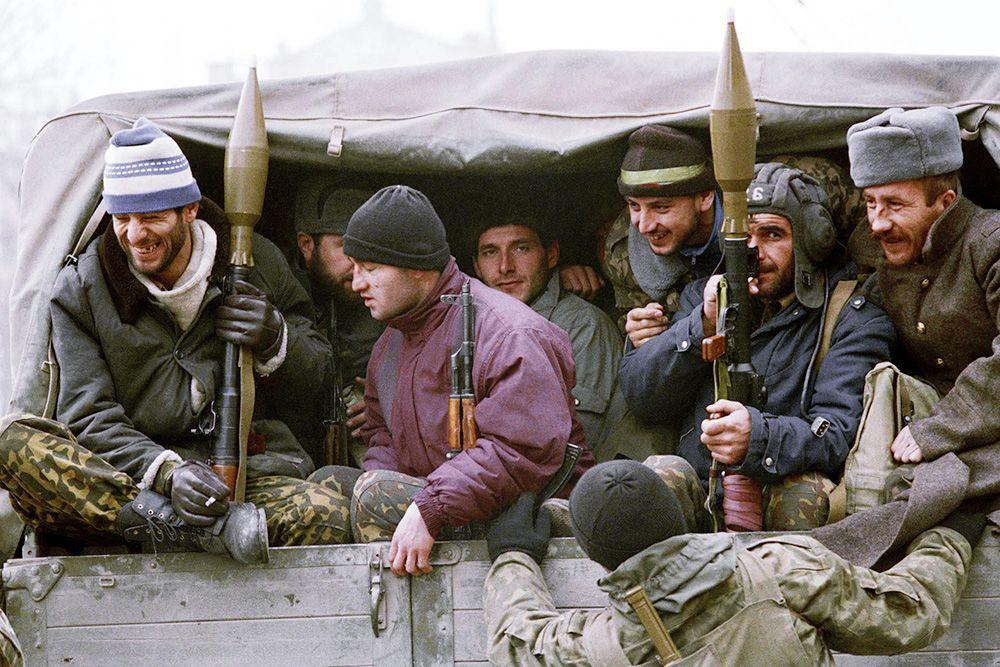 Бойцы с гранатометами