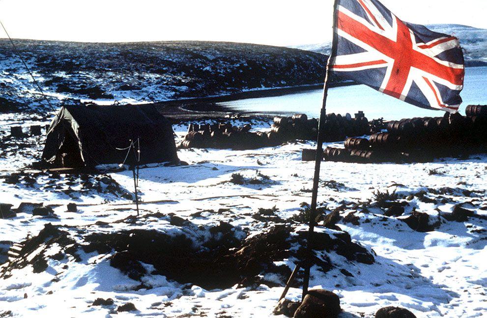 Британский флаг на Фолклендах