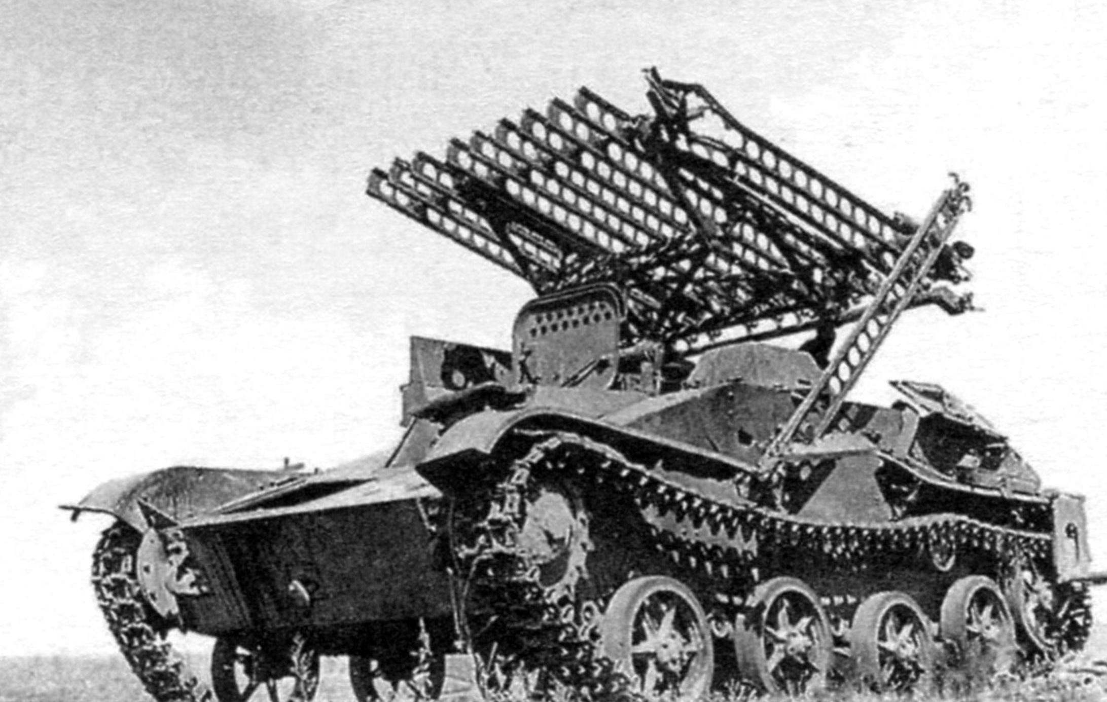Катюша на танке Т-60