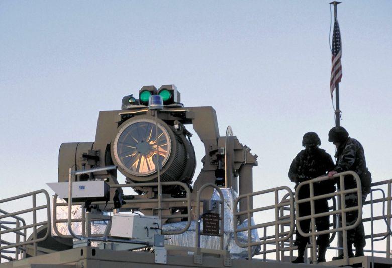 Лазерная установка на военном корабле