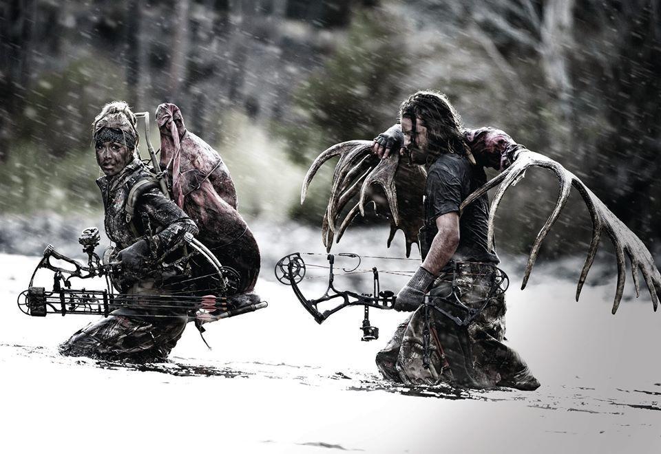 Охотники с трофеями