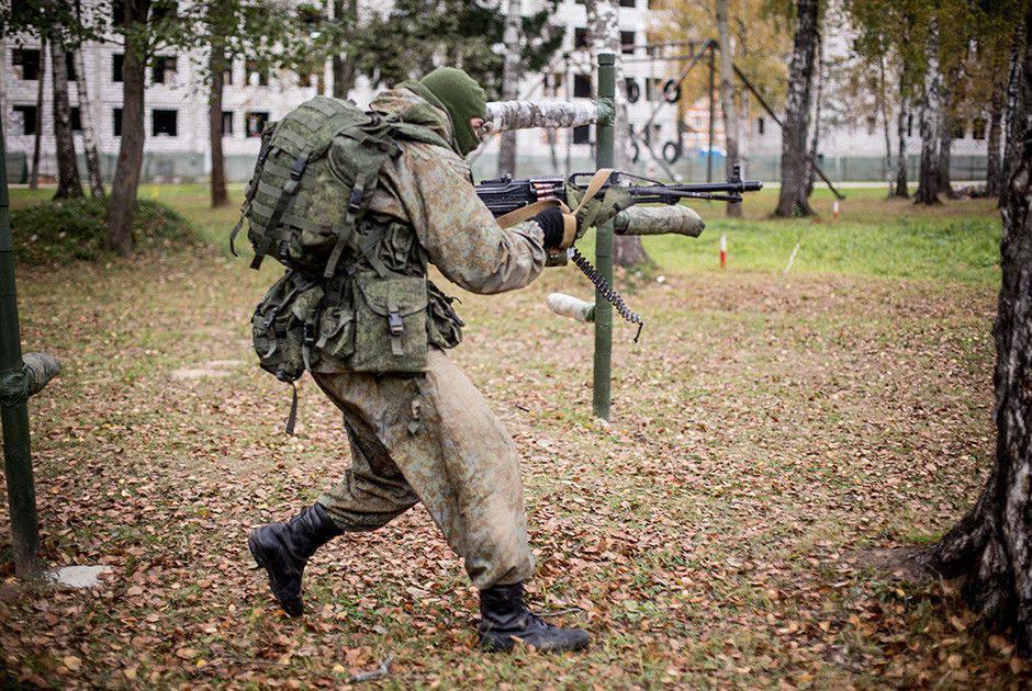 Тренировка спецназовца ВДВ
