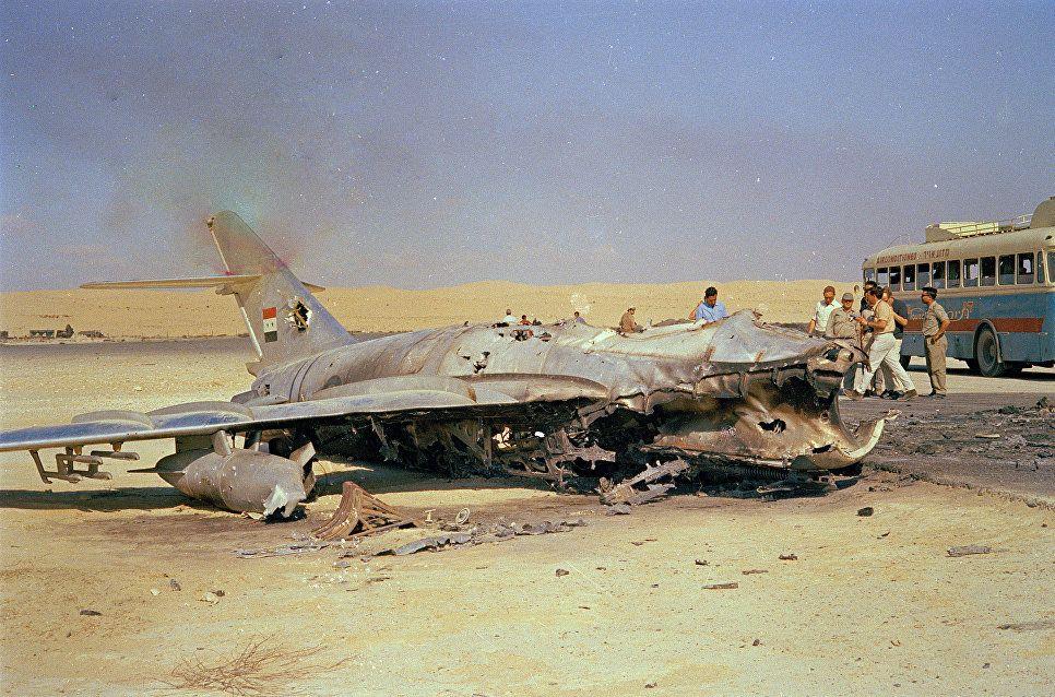 Уничтоженный самолет