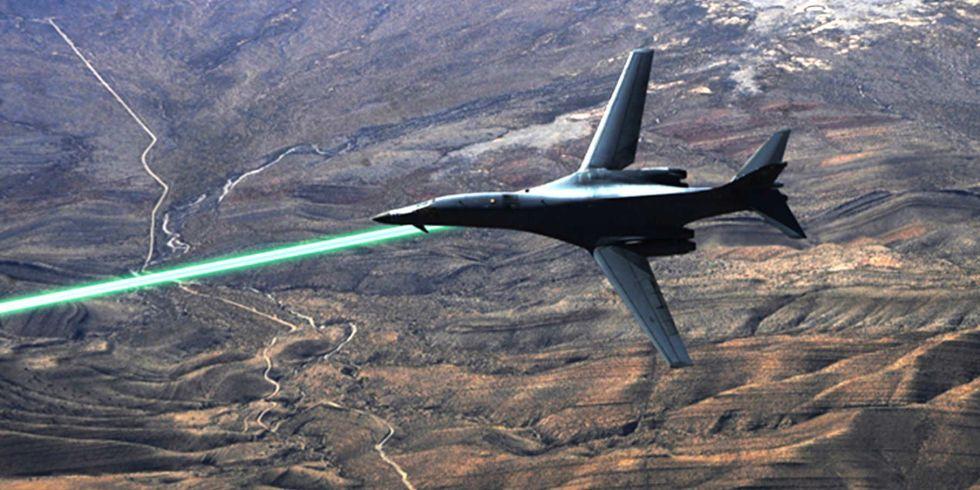 Выстрел лазерным оружием