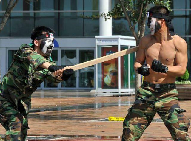 Занятия Северокорейского спецназа