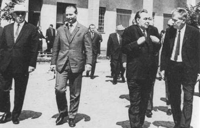 Дубчек и Брежнев