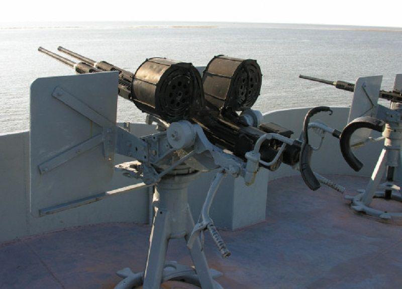 Эрликон на палубе корабля