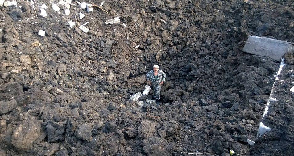 Место падения ракеты