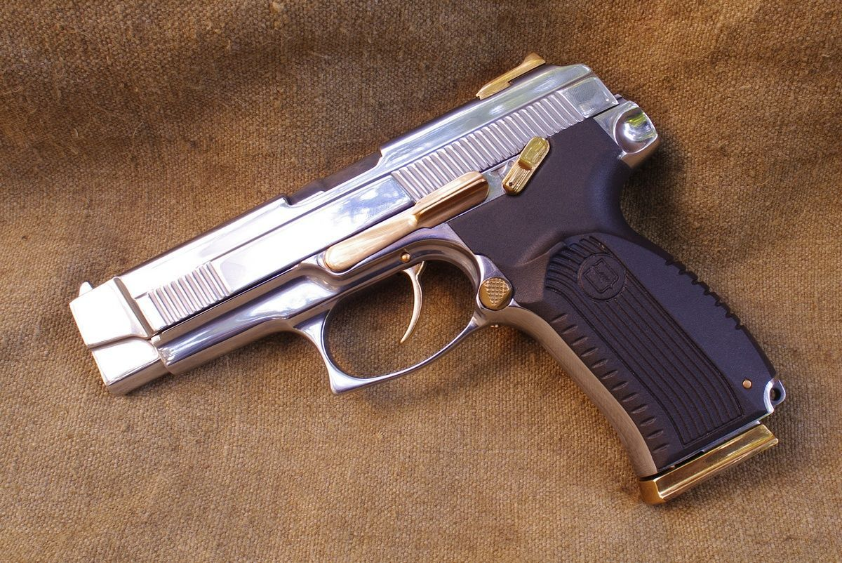 Пистолет Ярыгина с позолоченными деталями