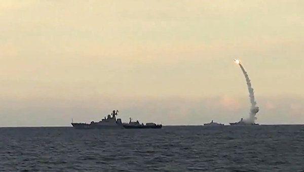 Пуск Калибра с кораблей