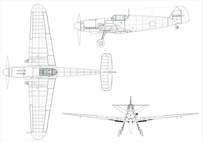 Схема Bf 109 е