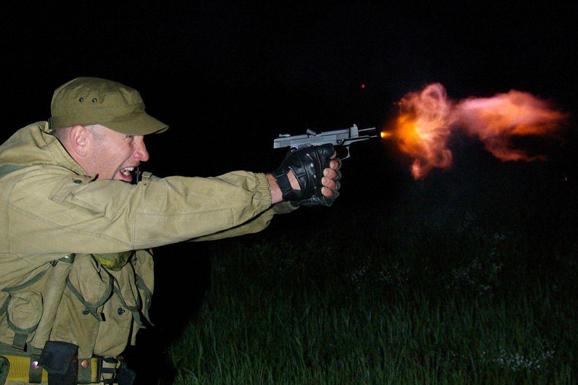 Стрельба из пистолета Ярыгина ночью