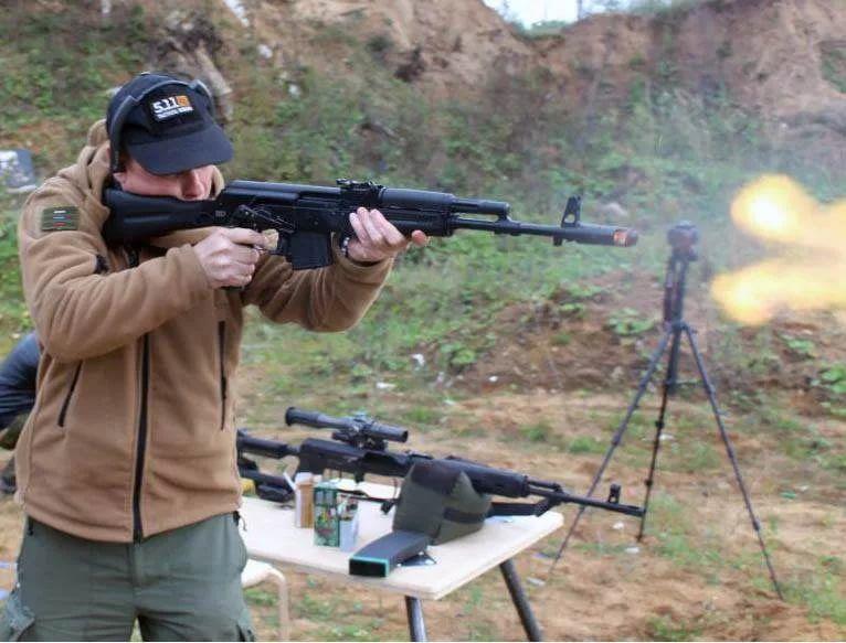"""Стрельба из """"Сайги-223"""""""