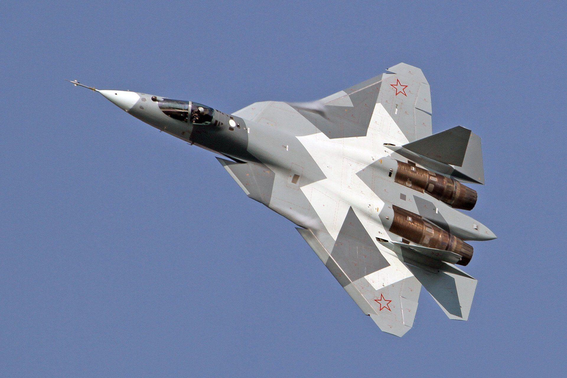 СУ-57, вид сверху