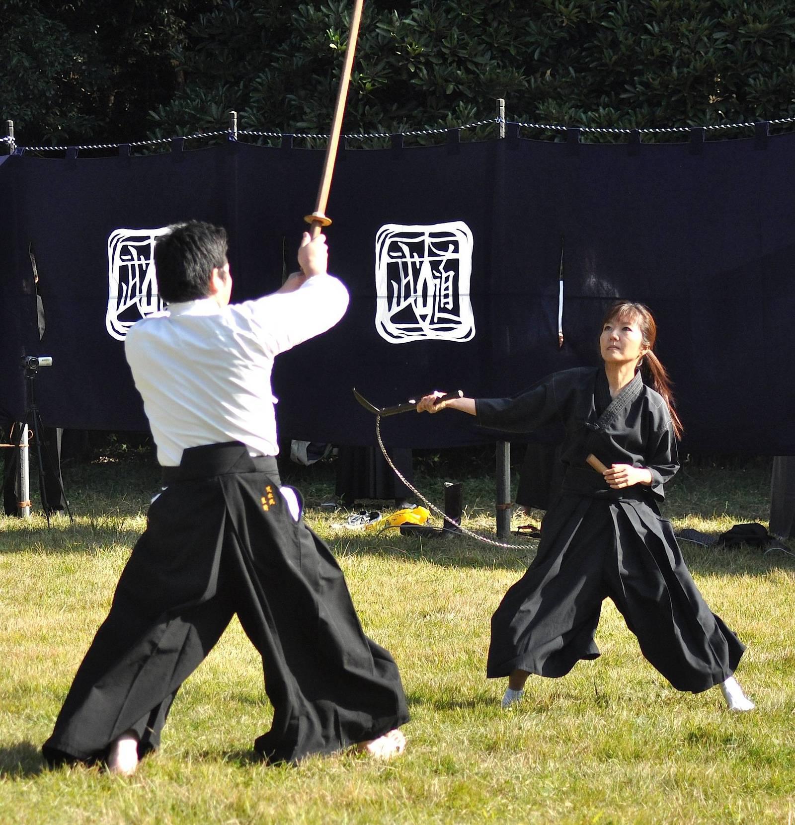 Тренировка с кусаригамой