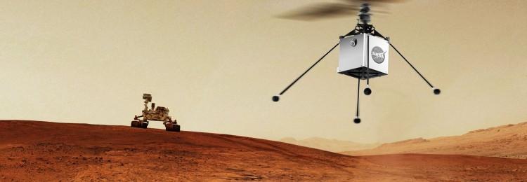Вертолет NASA отправится на Марс