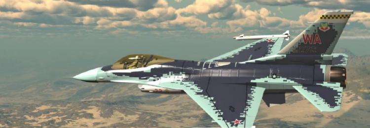 Маскировка F-16 под Cy-57 записана на видео