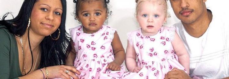 Белые дети в семьях темнокожих