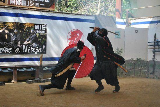 Бой на ниндзя-то