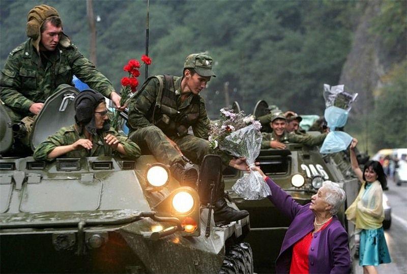 Цветы для российских солдат