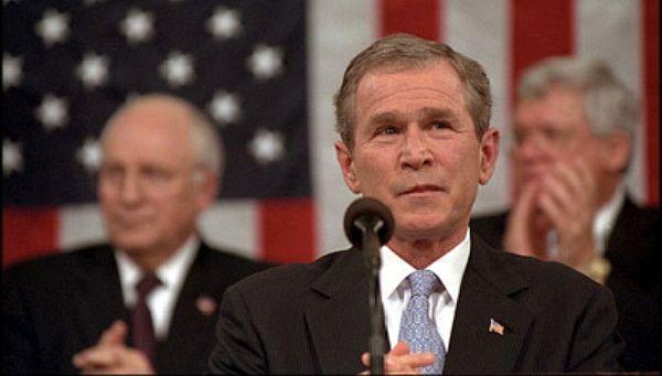 Джордж Буш выступает в конгрессе