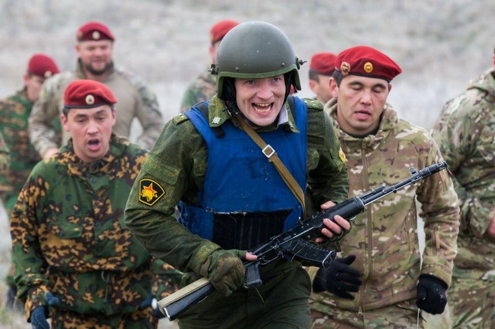 Гвардейцы на тренировке