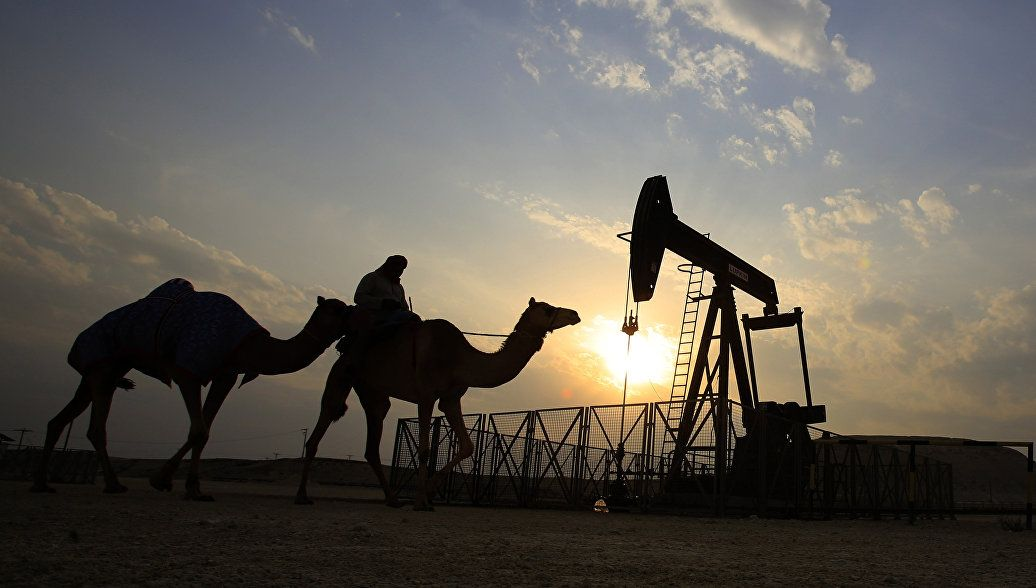 Нефтяные вышки в Ираке