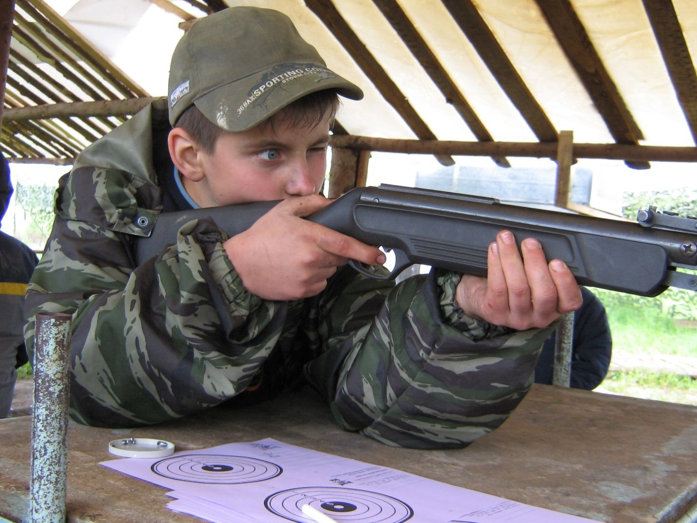 Прицеливание из ружья