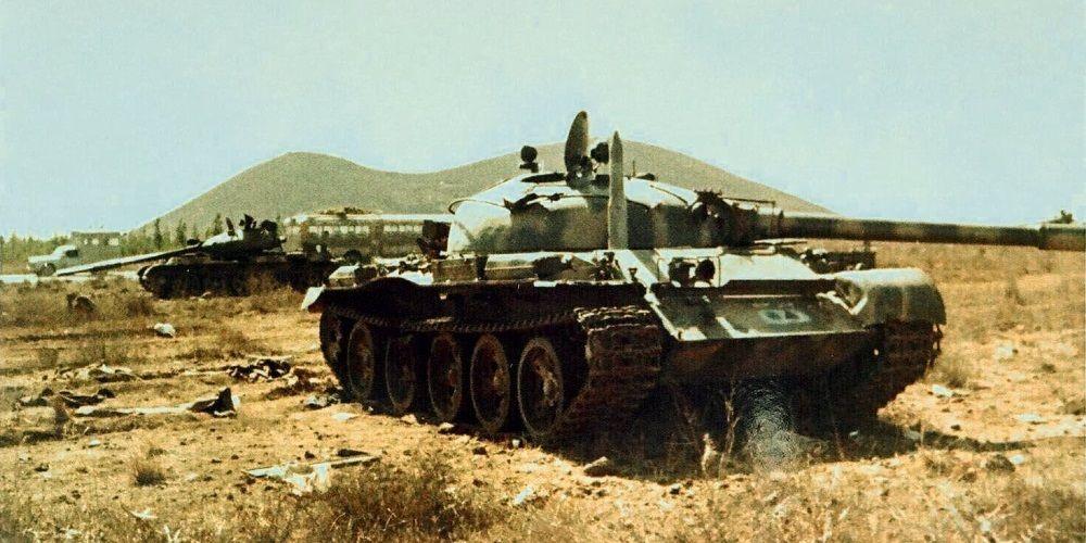 Разбитые сирийские танки