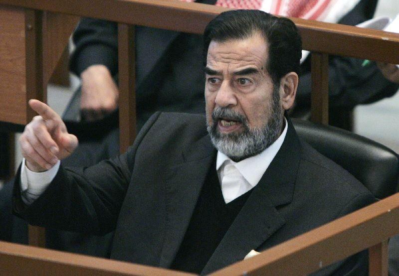 Саддам Хусейн на суде
