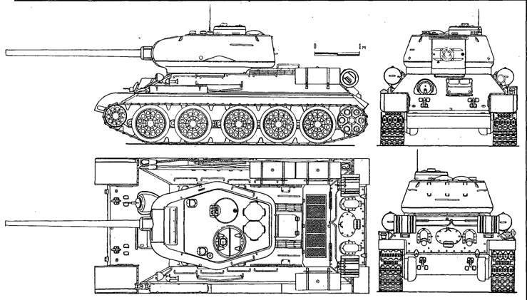 Схема Т-34-85