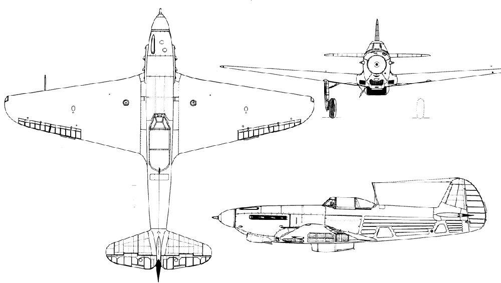Схема Як-9