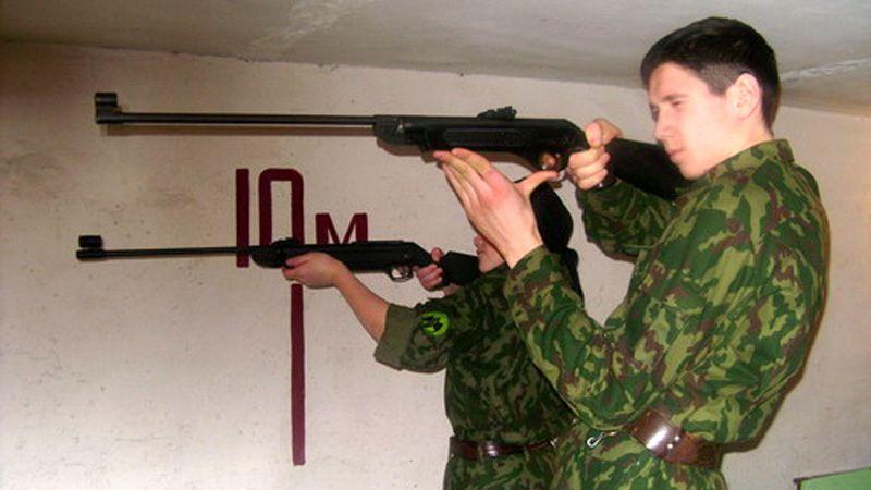 Стрельба из винтовки стоя