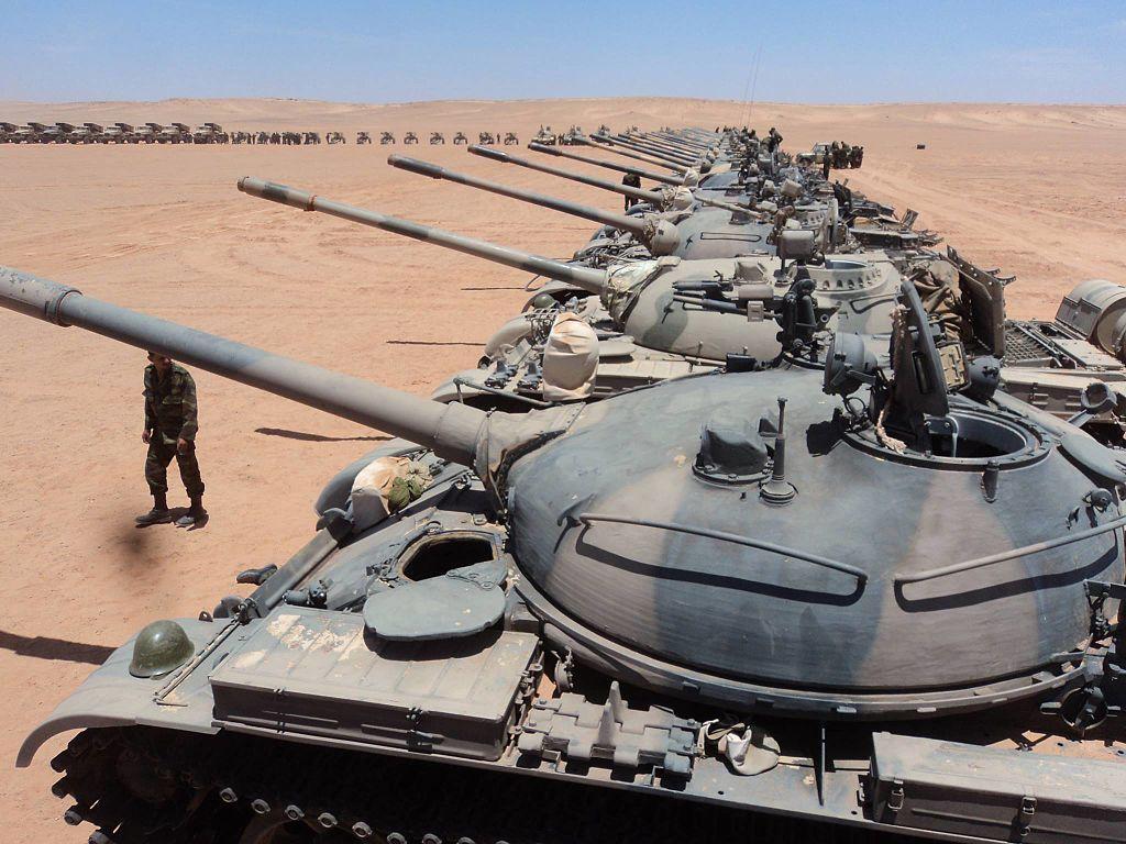 Танки Т-55 в Сирии