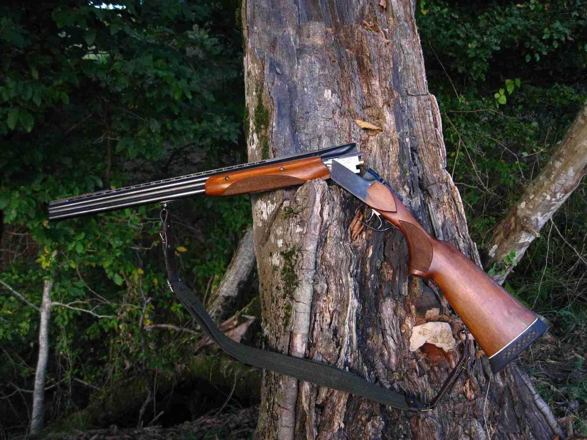 ТОЗ-34 с открытыми стволами