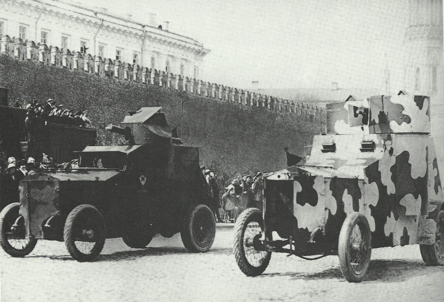 Трофейные броневики Красной Армии