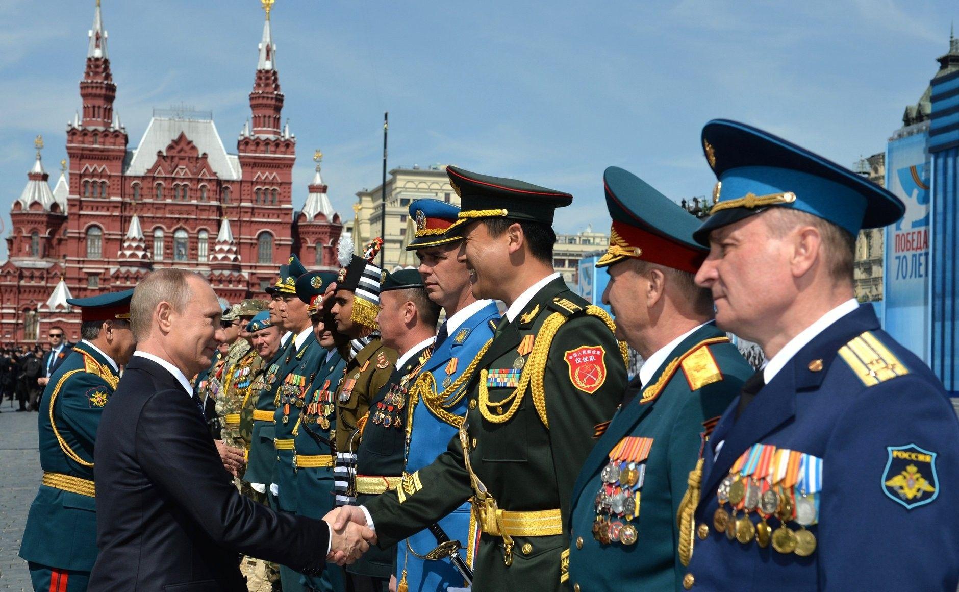В. В. Путин на параде