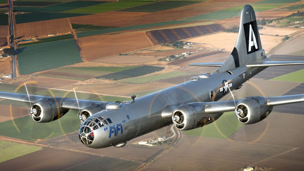 B-29 над землей