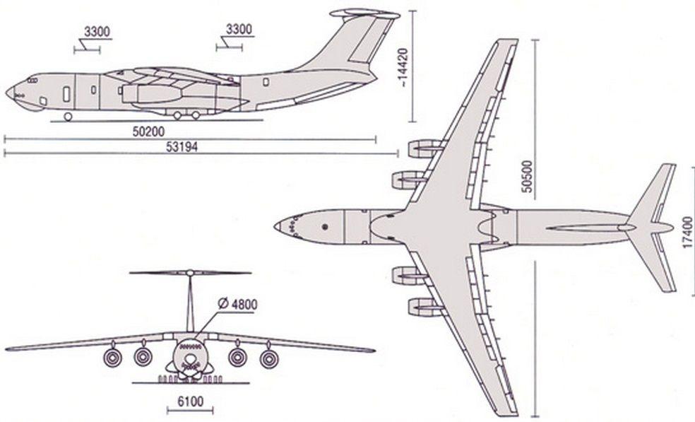 Чертеж-схема Ил-476