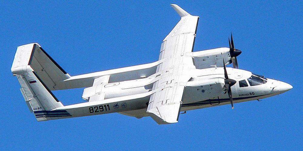 Грузопассажирский самолет Су-80
