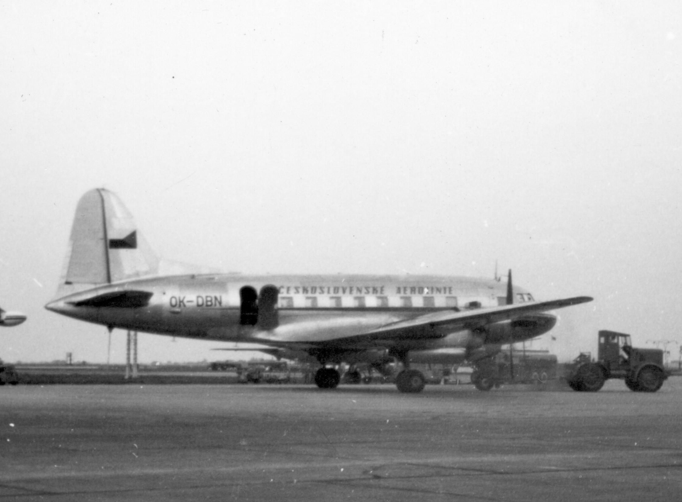 Ил-12 чешской авиакомпании
