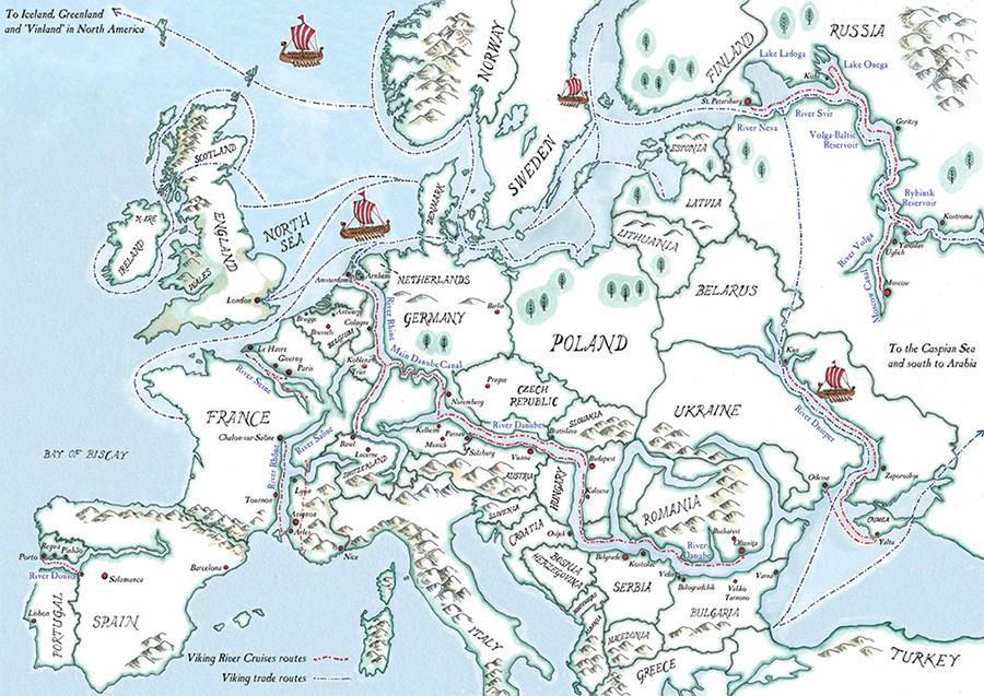 Карта походов викингов