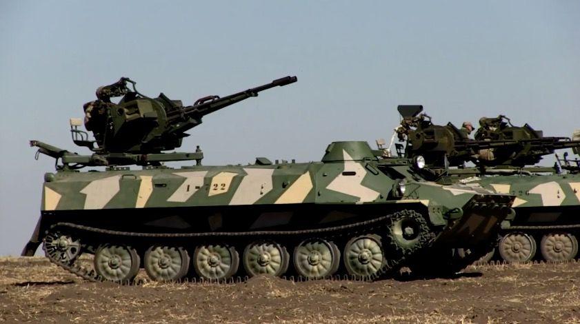 МТ-ЛБ с зенитной установкой ЗУ-23