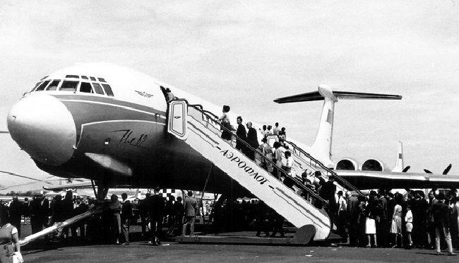 Посадка на борт Ил-62