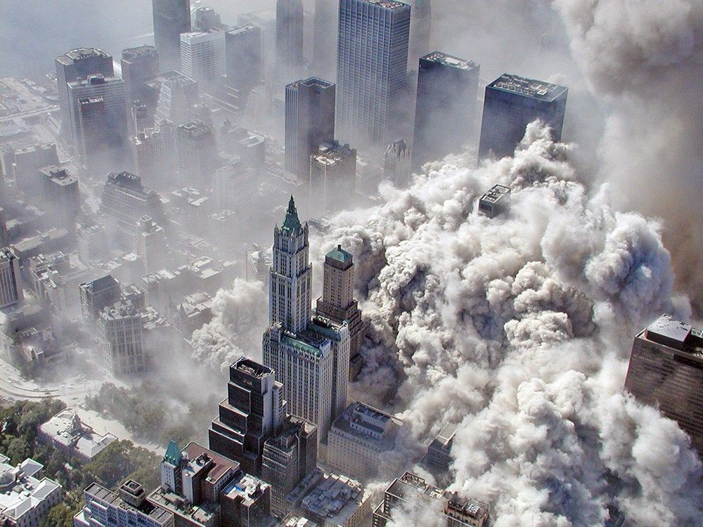Последствия теракта, вид с воздуха