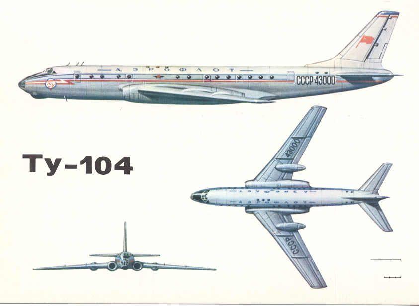 Рисунок Ту-104