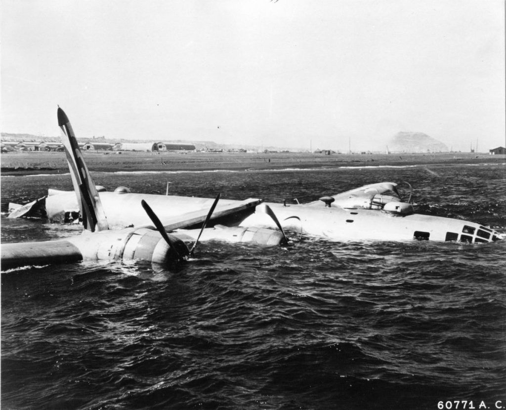 Сбитый B-29