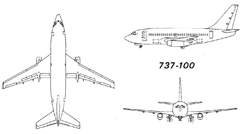 Схема Боинг 737 100