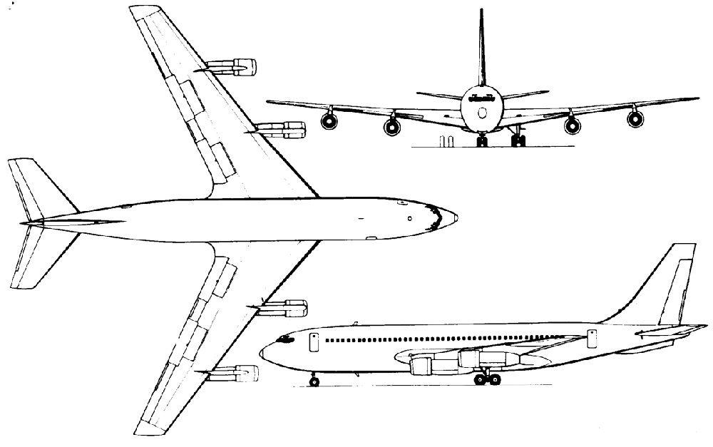 Схема Боинга-707