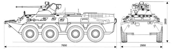 Схема БТР-82А